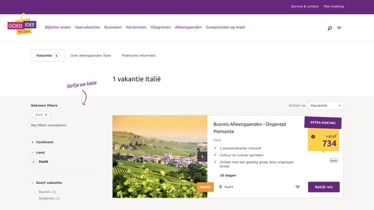 goed idee reizen website