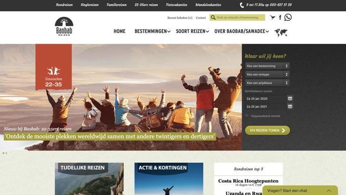 baobab reizen website