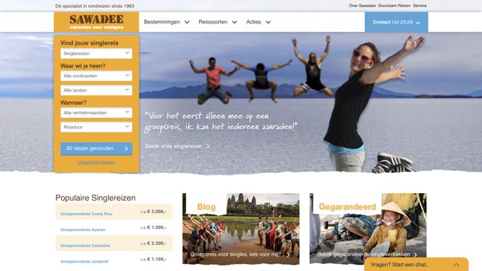 sawadee singlereizen website