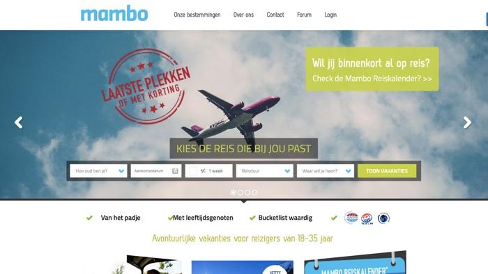 mambo jongerenreizen website