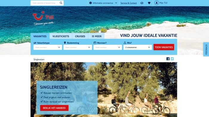 TUI website